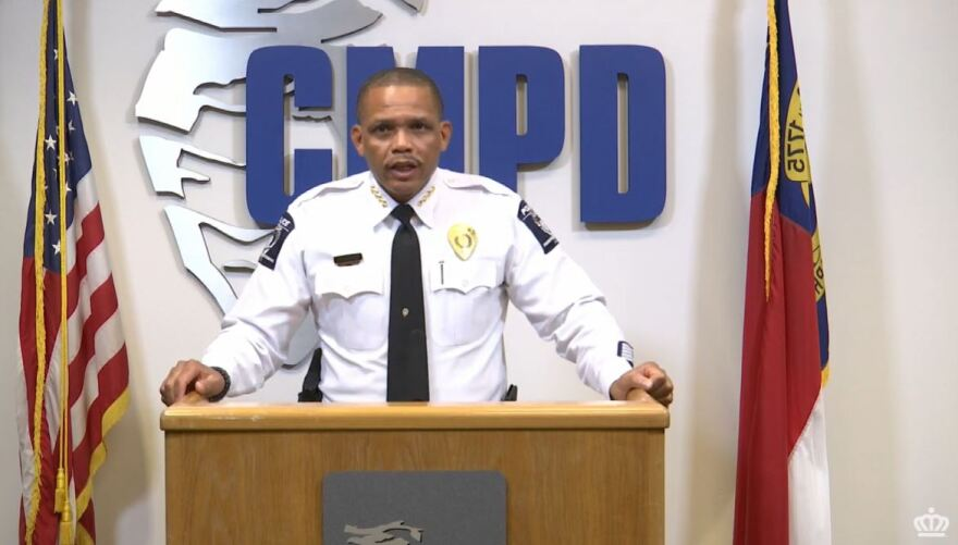 CMPD Chief Johnny Jennings speaking Friday, Sept. 18, 2020
