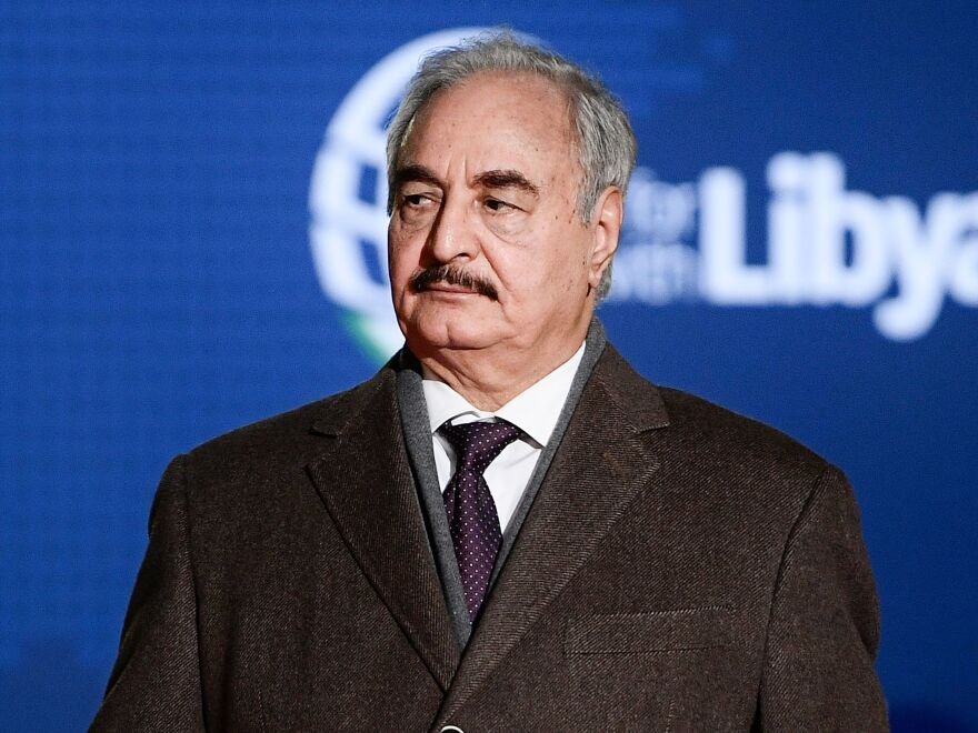 Khalifa Haftar, shown here in November 2018, launched an attack this month to seize Tripoli from the United Nations-recognized government led by Fayez al-Sarraj.