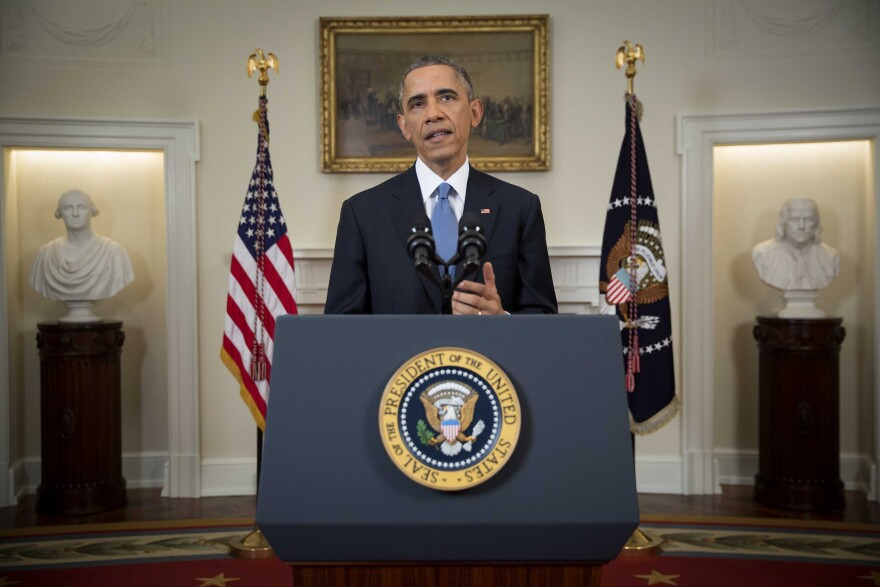 President Barack Obama speaks in the Cabinet Room of the White House in Washington on Dec. 17.