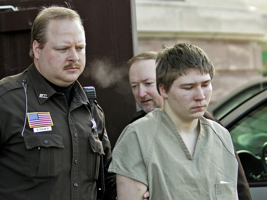 A 2006 photo of Brendan Dassey leaving a court in Manitowoc County, Wisconsin.