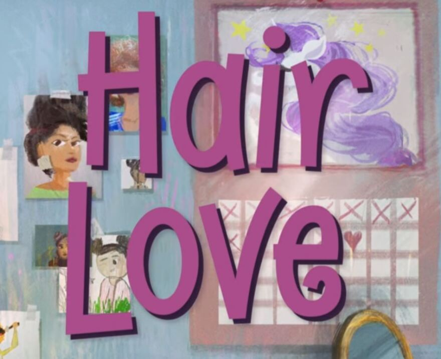 a photo of the title screen for Hair Love