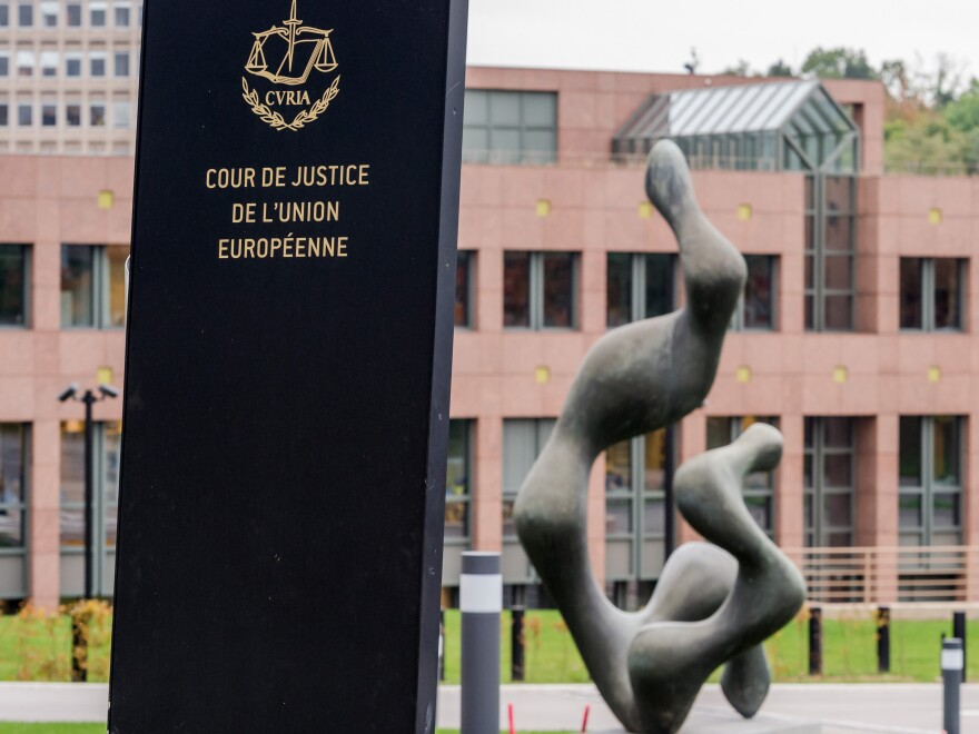 The European Court of Justice in Luxembourg, seen here in 2015, ruled Thursday that psychological tests of sexual orientation may not be used to rule on asylum applications.