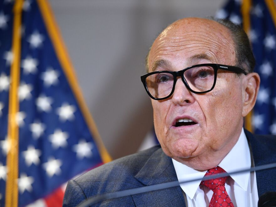 Trump's personal lawyer Rudy Giuliani returned home Wednesday evening after treatment for COVID-19.