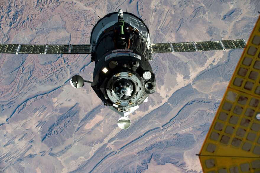 A Soyuz spacecraft approaches the International Space Station. Photo: NASA