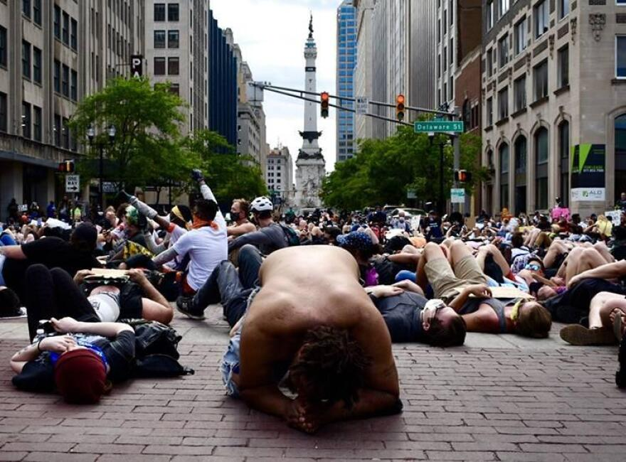 Street protest in Indianapolis
