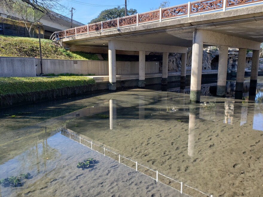 The San Antonio River is drained, cleaned and repaired on an as-needed basis.