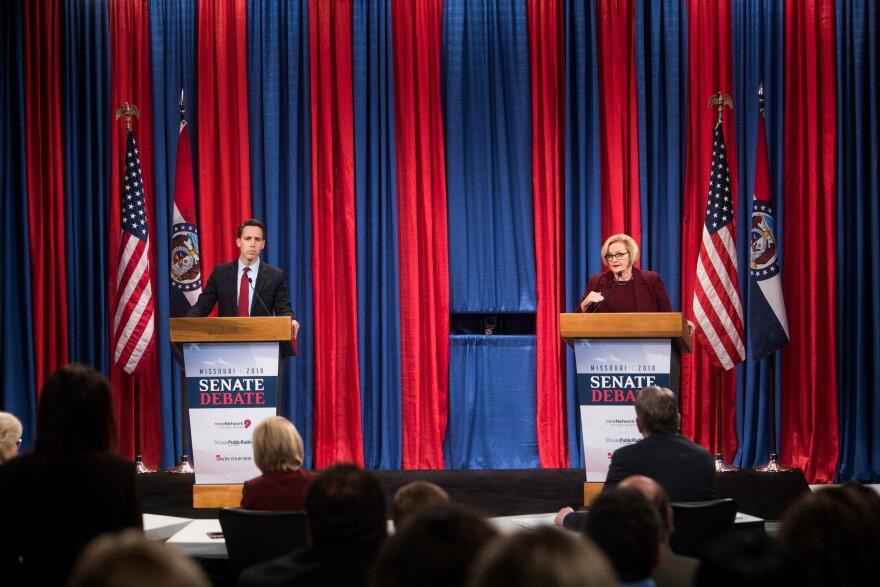 Republican Attorney General Josh Hawley and Democratic U.S. Sen. Claire McCaskill