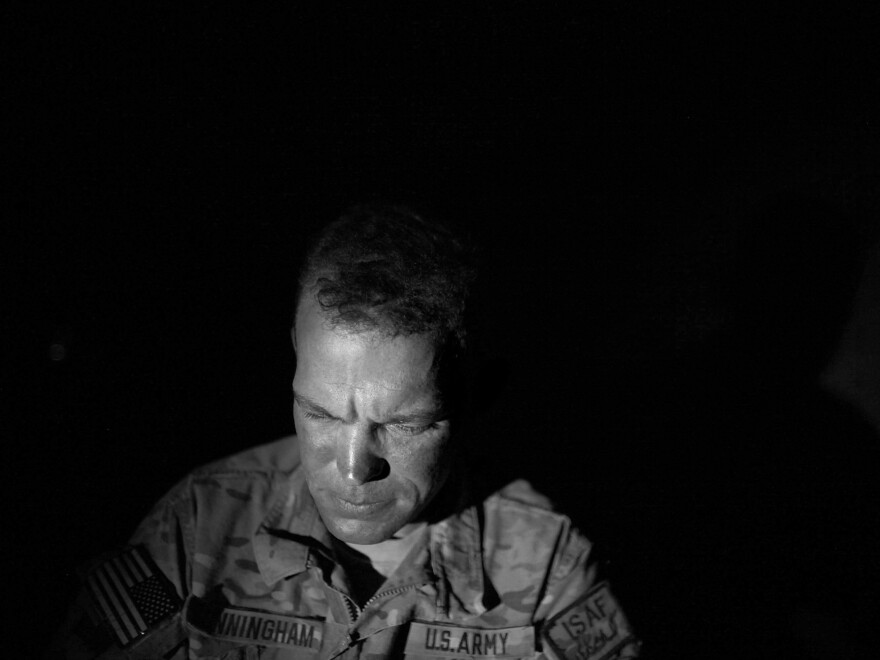 Sgt. Chris Cunningham has served five tours in Afghanistan, surviving some of the most horrific fighting of the past decade. Cunningham is now working in something of a safe haven at Combat Outpost Arian in Ghazni province.