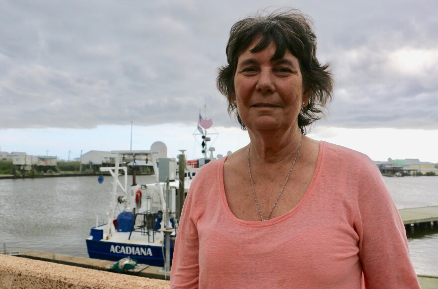 Dr. Nancy Rabalais, outside her lab in Cocodrie, Louisiana. Rabalais has been measuring the dead zone in the Gulf of Mexico for more than 30 years.