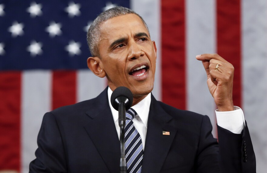 President Obama delivers his State of the Union address before a joint session of Congress on Capitol Hill in Washington on Tuesday.