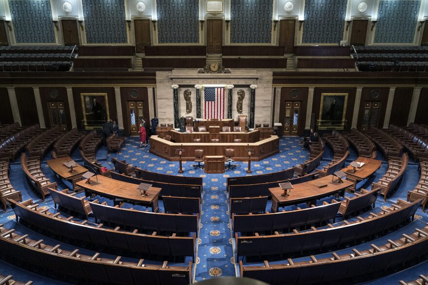 The chamber of the House of Representatives in January at the Capitol in Washington. (J. Scott Applewhite/AP)