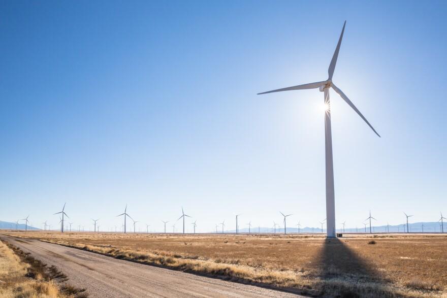 Photo of wind turbine.