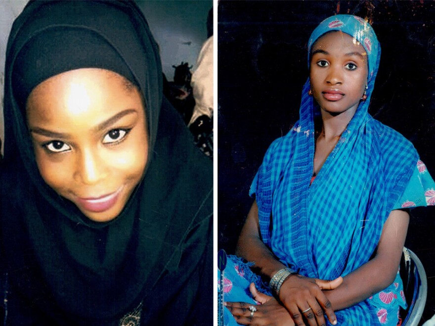 Hauwa Mohammed Liman and Saifura Hussaini Ahmed Khorsa, two midwives who were captured by a terrorist group in March and subsequently killed.