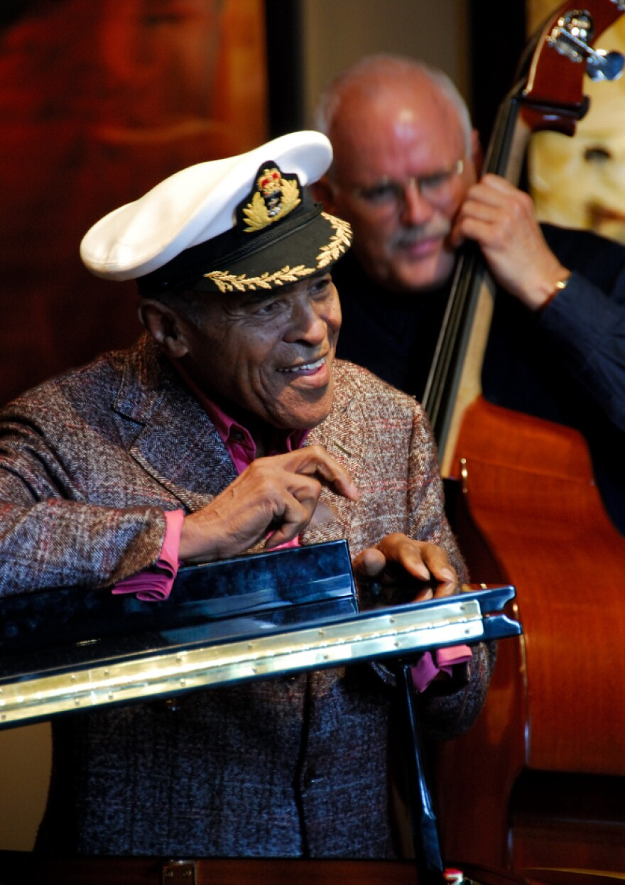 Jon Hendricks gives a clinic on vocalese at the 2007 Art of Jazz Festival.
