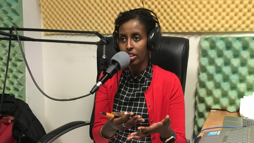 Amira Adawe has a radio show, <em>Beauty-Wellness Talk,</em> which is a platform where the Somali community can talk openly about skin lightening without fear of being outed or stigmatized.