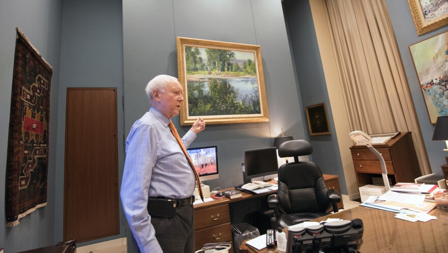 Orrin Hatch in his office in Washington D.C..
