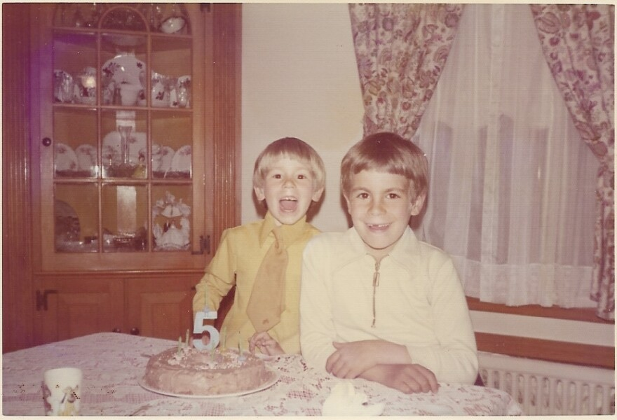 "Danny Volce (left) on his fifth birthday with brother Jay Volce, in 1973. Danny was 52 when he died on Feb. 6, 2021. ""To get so far into this and then to lose him here at this point... it feels especially hard,"" says his sister Lori Baron."
