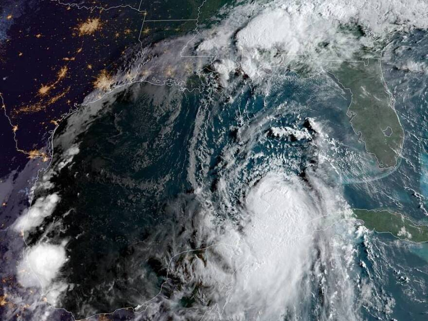 Hurricane Laura formed early Tuesday morning, as the storm's center crossed into the Gulf of Mexico. Laura is forecast to make landfall along the Gulf Coast as a Category 3 storm.