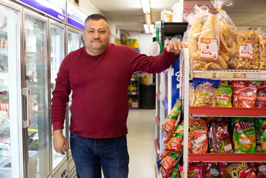 Horacio Esparza owns and operates La Guadalupana grocery store in St. Charles. 10/28/19
