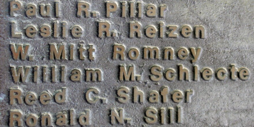 GOP presidential nominee Mitt Romney's name is among those on a plaque honoring Cranbrook School's graduating class of 1965.
