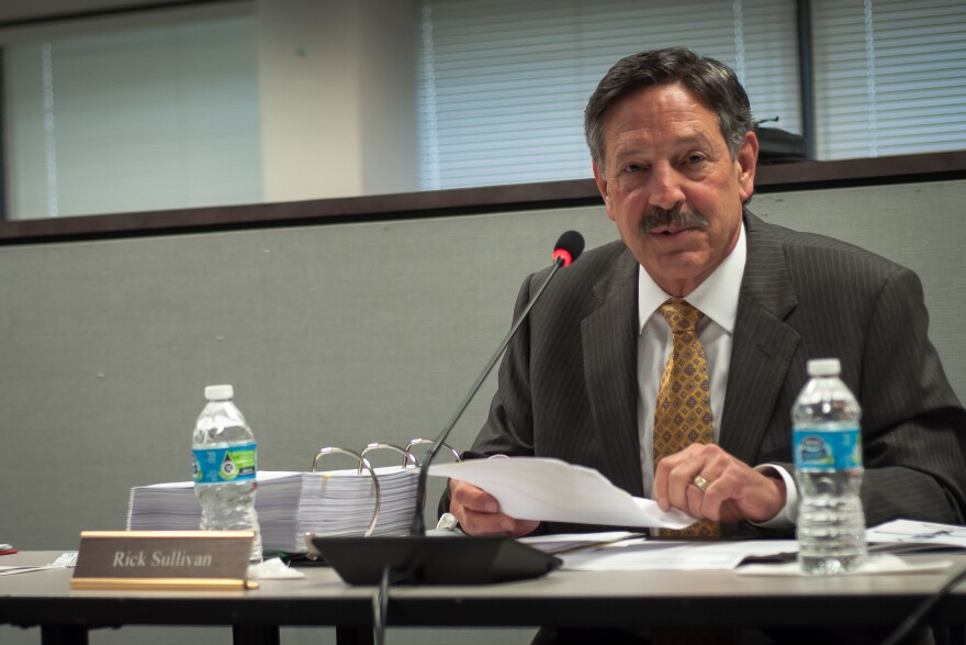 Rick Sullivan, president of St. Louis Public Schools' Special Administrative Board is pictured at an April 2017 meeting.