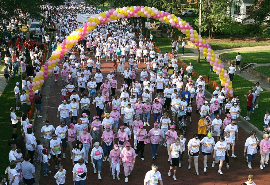 Several thousand people participated in the Susan G. Komen Race for the Cure in Tyler, Texas, in 2007. Some walkers for this year's races, including the 3-Day walk, are worried that they might have trouble raising money because of the Planned Parenthood controversy.