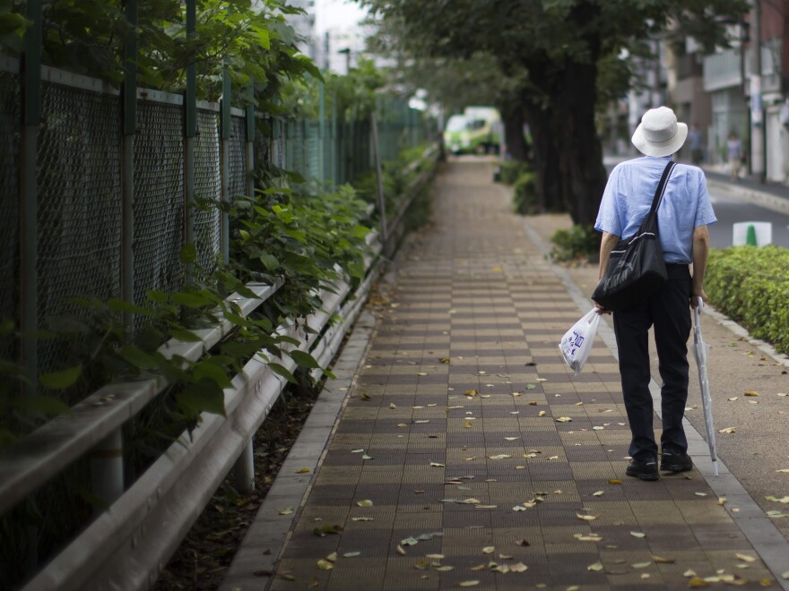 More than a quarter of Japan's population is over the age of 65, and its birthrate is falling steadily.