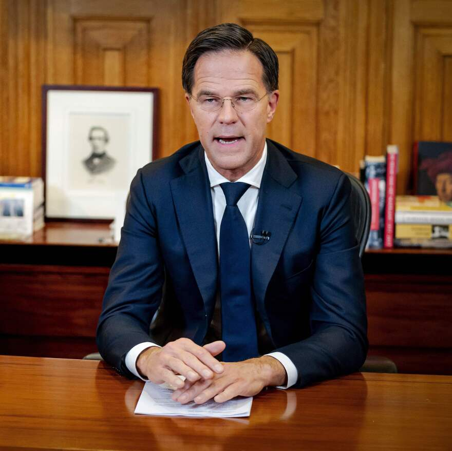 Dutch Prime Minister Mark Rutte announced the Netherlands' new lockdown measures in a televised address to the country Monday evening.