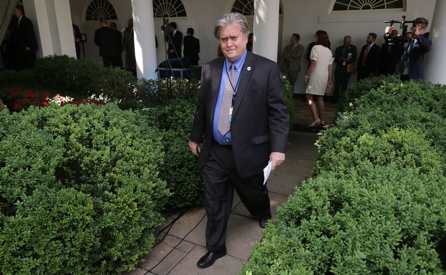 In the <em>American Prospect</em> interview, White House chief strategist Steve Bannon described economic competition between the U.S. and China in apocalyptic terms.