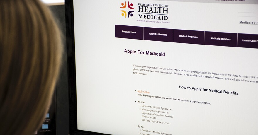 Photo of online Medicaid application.