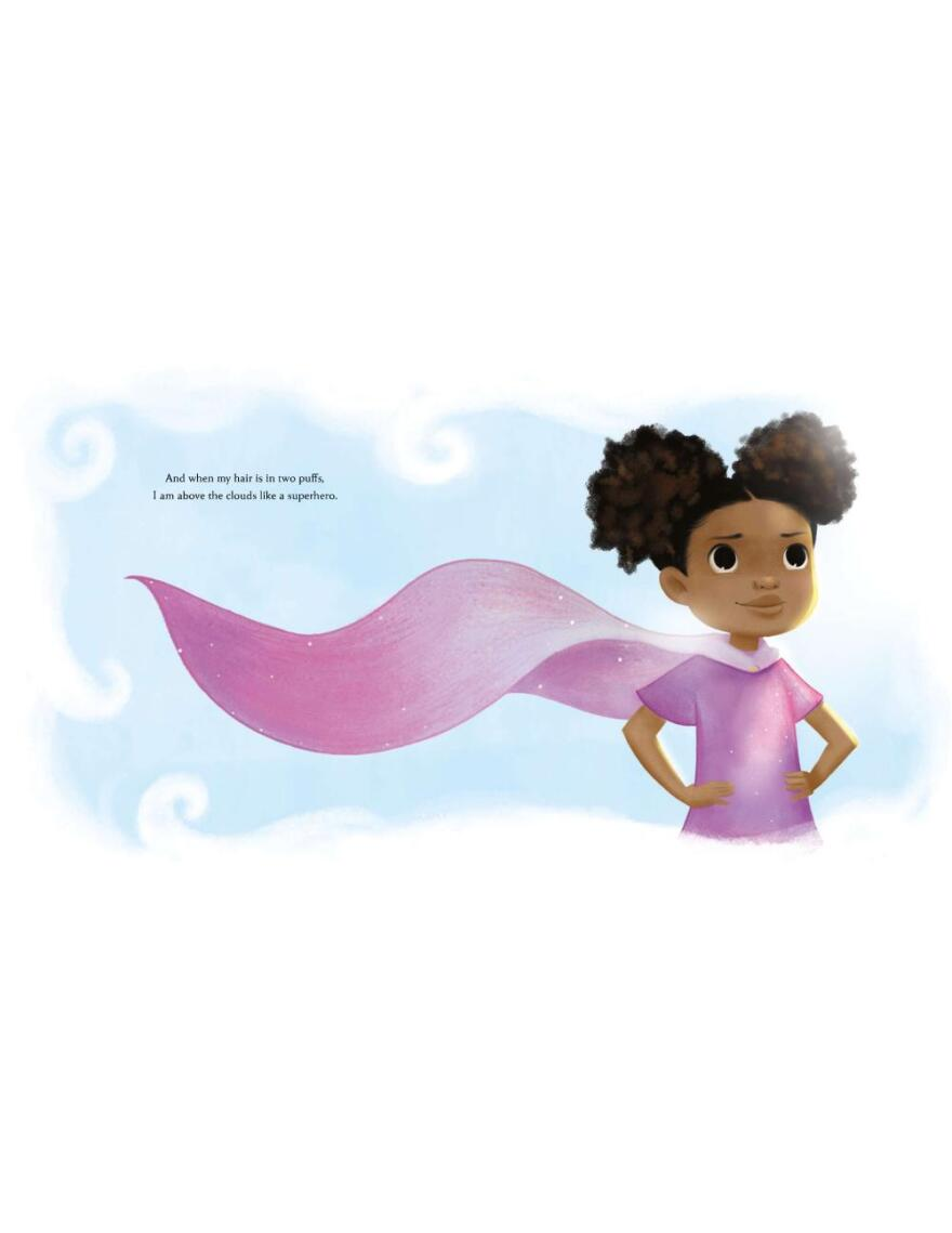 Illustrator Vashti Harrison said she likes to emulate girls who are often by themselves, reading a book or going through a more magical realm.