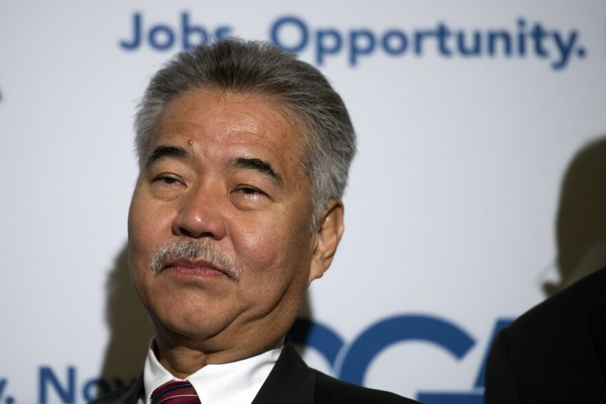 Hawaii Gov. David Ige appears at a Democratic Governors Association news conference in Washington in February. (Cliff Owen/AP)