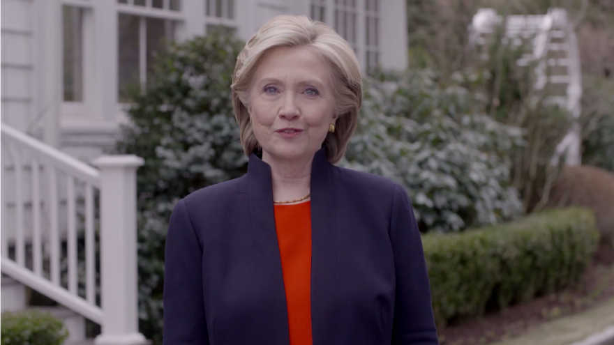Hillary Clinton announced her run for the president in a highly produced campaign video.