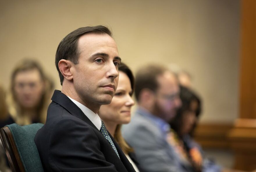 Texas Secretary of State David Whitley at a state Senate Committee on Nominations hearing on Feb. 7, 2019. Whitley was appointed to the job by Gov. Greg Abbott, but Whitley must first clear the committee, then win a two-thirds vote in the Texas Senate.