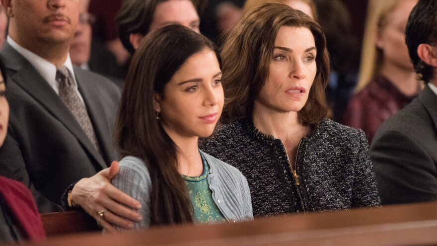 Julianna Margulies plays Alicia Florrick, and Makenzie Vega is her daughter, Grace, on the CBS series <em>The Good Wife.</em>