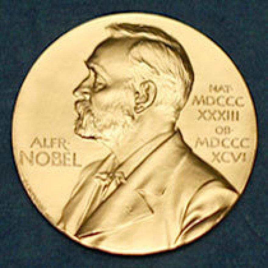 The Nobel medal.