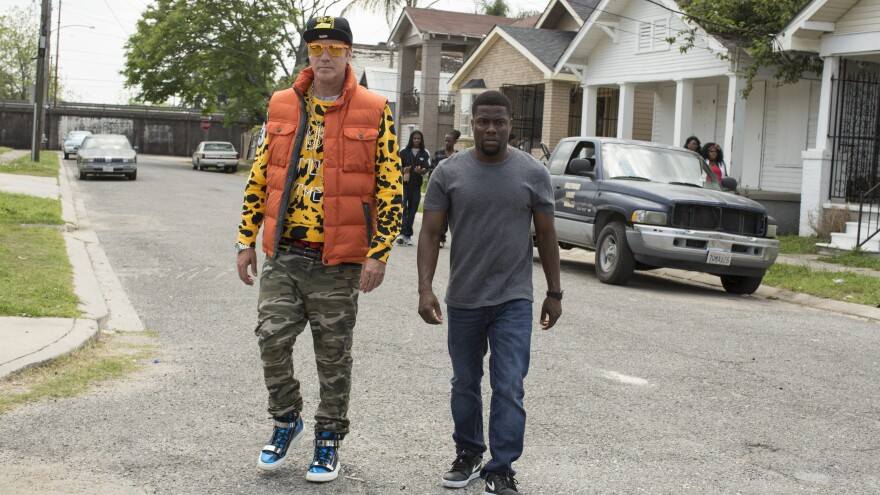 Will Ferrell and Kevin Hart in <em>Get Hard</em>.
