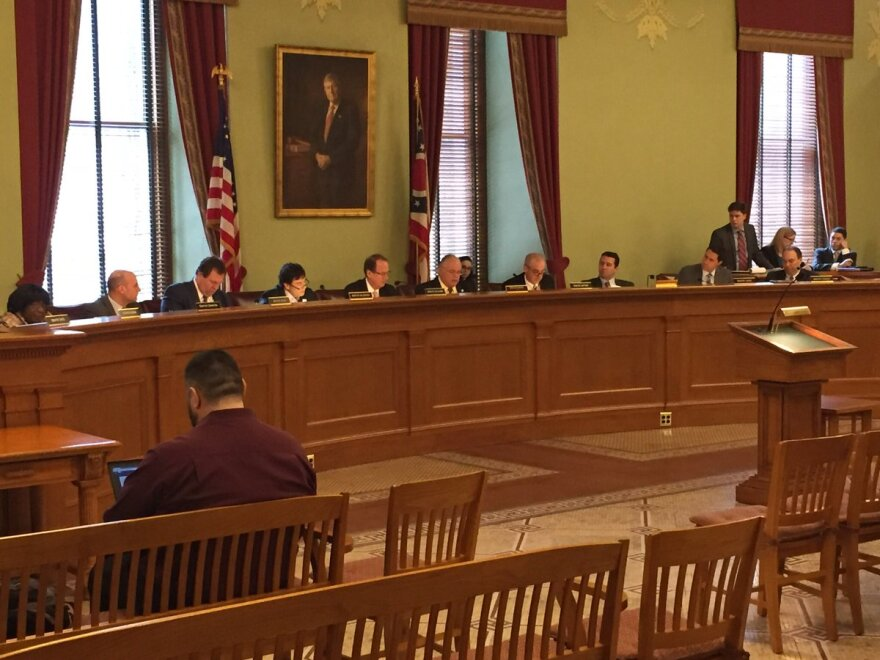 photo of Senate committee approving redistricting bill