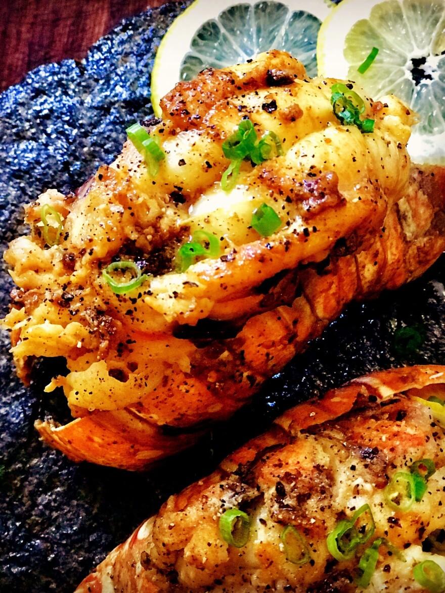 A lemon pepper lobster tail by Andrea Drummer, winner of Netflix's first episode of <em>Cooking on High</em>.