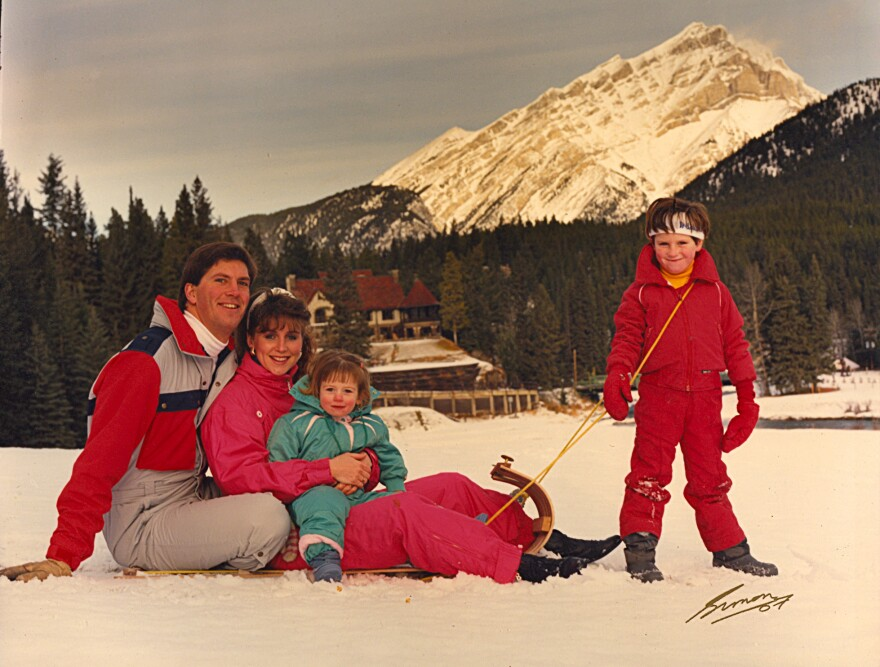 """Bandy, pictured above with Lea and their children in 1988, says he """"had no choice but to start afresh"""" after the operation."""