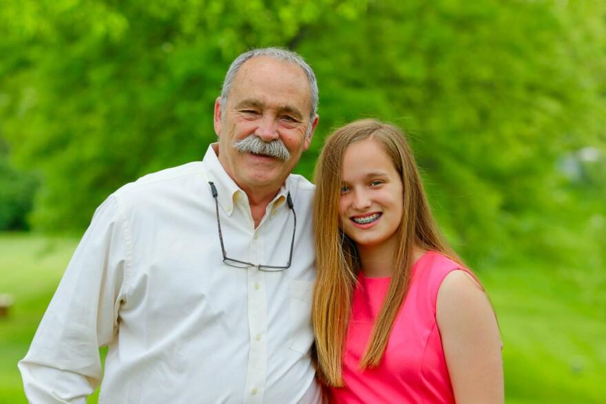 Pete DaPrato and his granddaughter Kate Hamel.  [3/30/20]