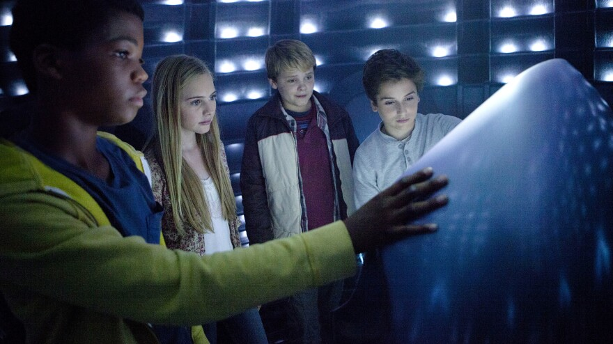 "In <em>Earth to Echo,</em> Brian ""Astro"" Bradley, Ella Wahlestedt, Reese Hartwig and Teo Halm play a group of kids whose neighborhood is being destroyed by a highway construction project, forcing their families to move."