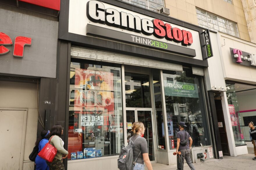 "A Bloomberg Opinion headline about the recent GameStop news reads ""GameStop Is Rage Against the Financial Machine"""