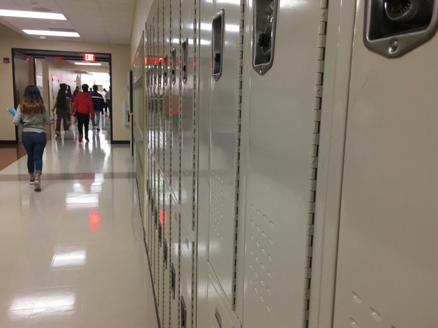 Students switch classes at a Duval County High School.