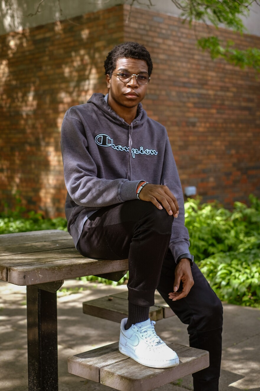 Shawn Richardson, 17, is a rising high school senior in Minneapolis. School is fine, but what he really loves is track. To Shawn, running track feels like freedom.
