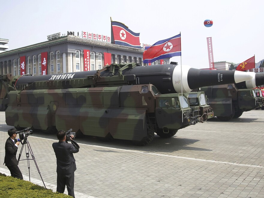 During a Saturday parade commemorating its founder's birthday, North Korea rolled out what appeared to be new intercontinental ballistic missiles. The country has been warned against having such weapons.