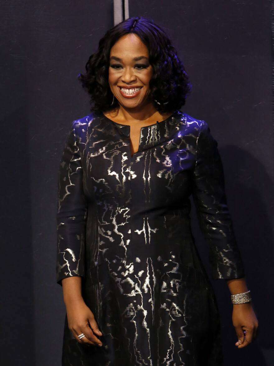 Shonda Rhimes appears on <em>Jimmy Kimmel Live!</em> on Sept. 24. Her new memoir is called <em>Year of Yes</em>.