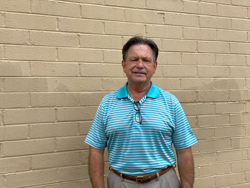 Ray Britt, Republican candidate and incumbent County Commission Chairmen in Bladen County