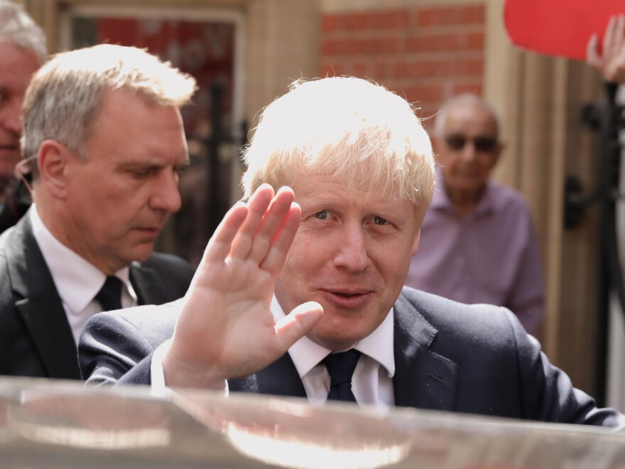 Johnson leaves his office on Monday in London. He will take office on Wednesday.