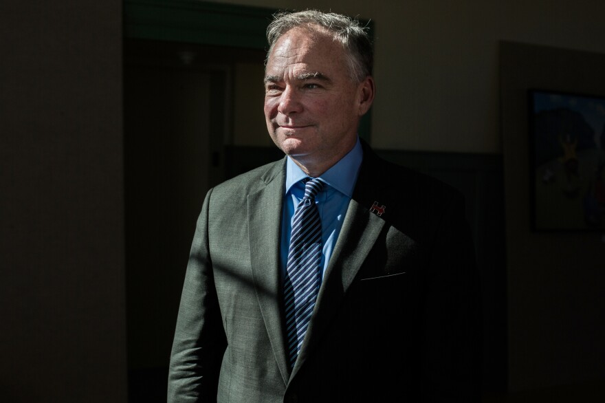 Democratic vice presidential nominee and Virginia Sen. Tim Kaine held a town hall at the Exeter Town Hall in Exeter, N.H., on Thursday afternoon.
